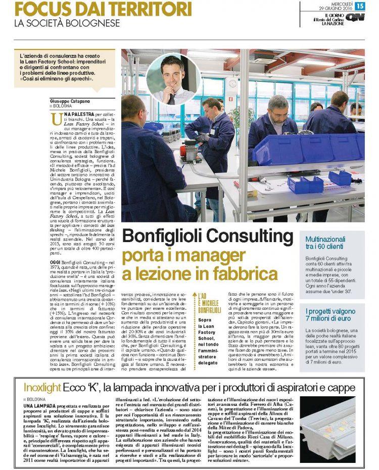 16-06-29_QN-Il Giorno_Bonfiglioli Consulting porta i manager a lezione i